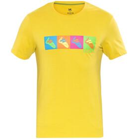Ocun Pop Art Shoes Maglietta a maniche corte Uomo giallo